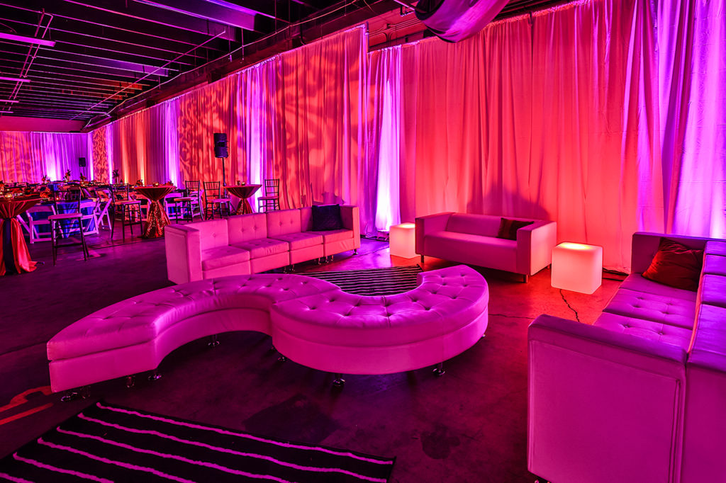 Decor, Lighting, Draping, Lounge Furniture, Tables, Chairs Rental
