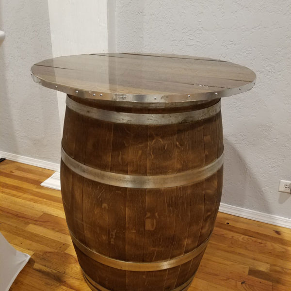 Vintage rustic wine barrel Table