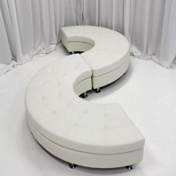 White Serpentine Couch- rental
