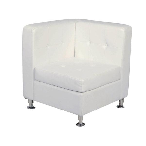 White Modular Furniture Lounge Corner Rental
