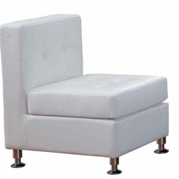 Modular Lounge Furniture White Armless- rental