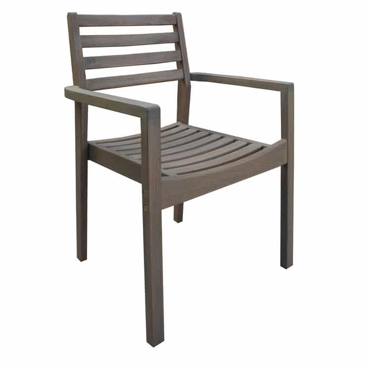 Grey Acacia Wood Patio Chair
