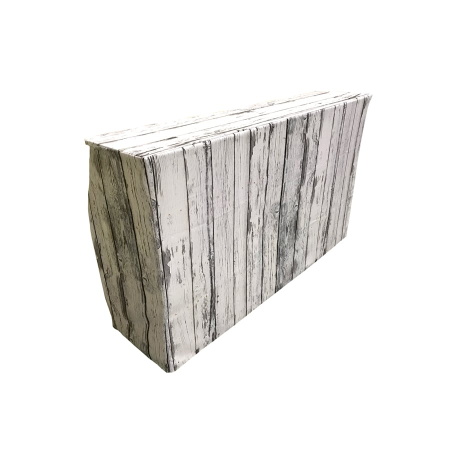 Rustic White-Washed Wood Bar Rental